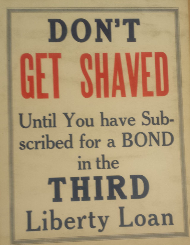 Don't Get Shaved sign