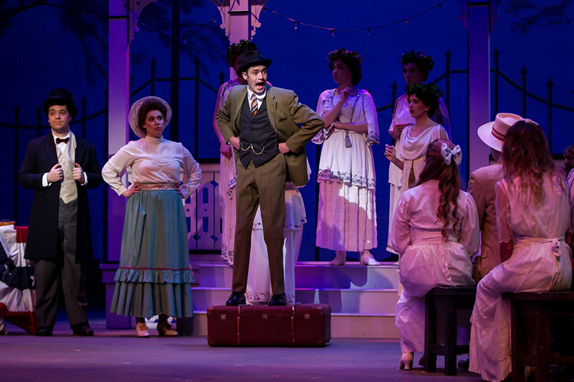 photo from the theatre production the music man