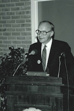Dr. K at Podium