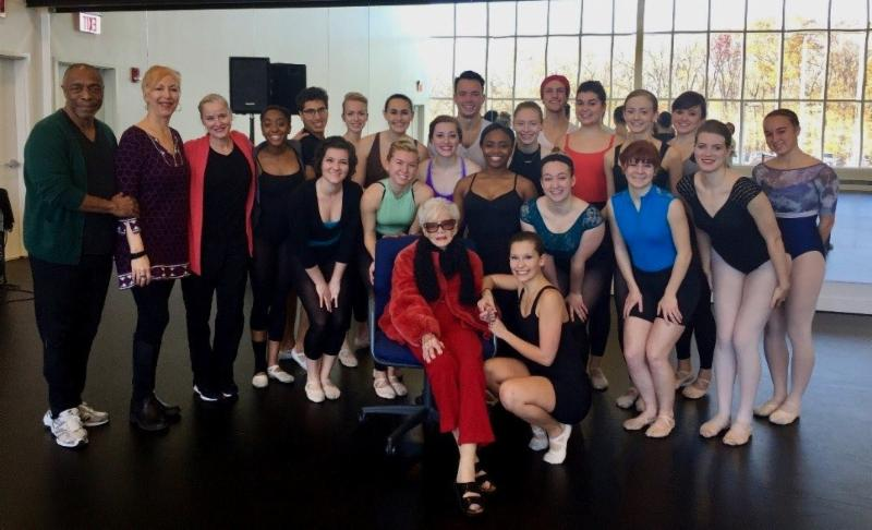 Mrs. Nutter with dance faculty and students