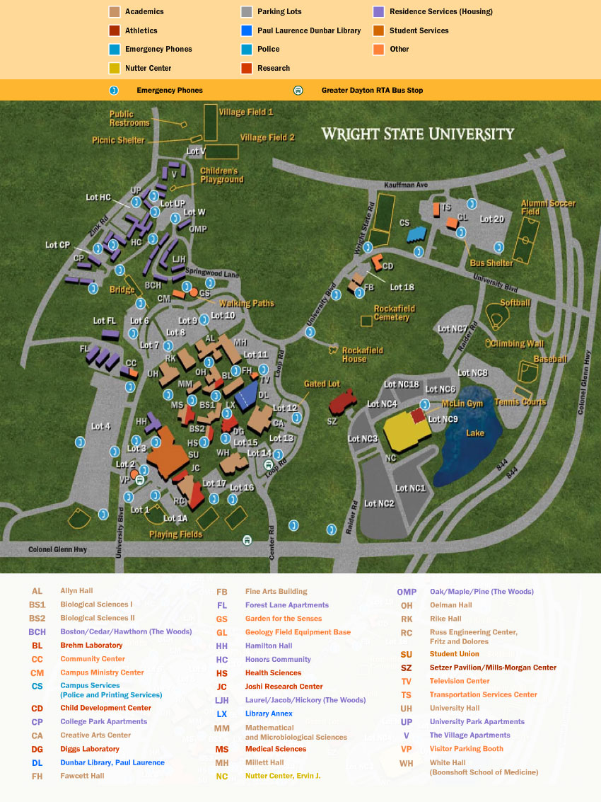 Campus Map Music College of Liberal Arts – Map University