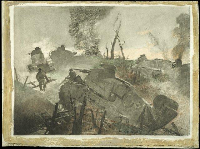 George Mathews Harding war art Sept 1918
