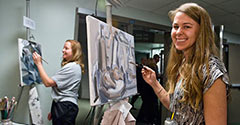 photo of students painting at artsgala