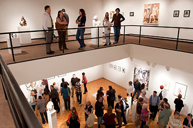 photo of guests in the art galleries