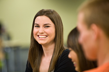 photo of a smiling student