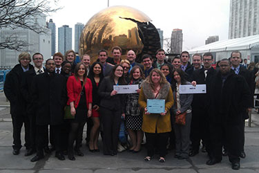 photo of the 2013 model un team