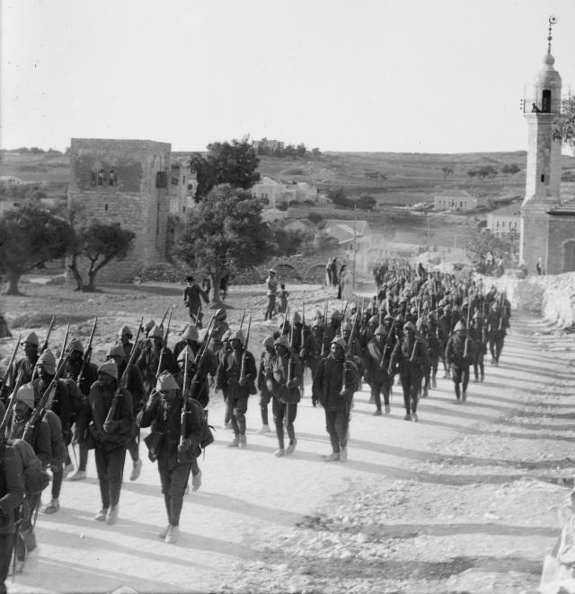 Ottoman troops on the Nablus Road, Jerusalem