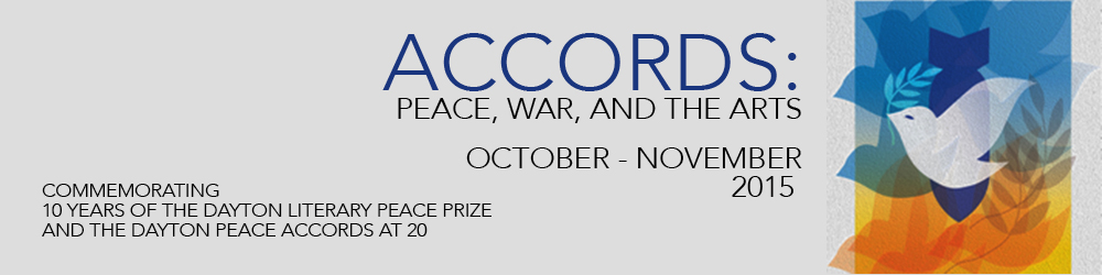 Accords: Peace, War, and the Arts October-November 2015 graphic