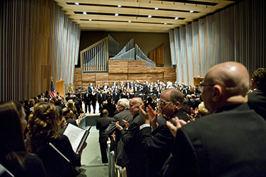 Schuster Hall during performance
