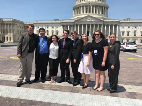 OCMEA students traveled to Washington DC for Hill Day to advocate for Music Education.