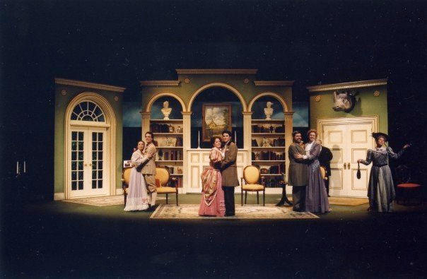 photo from the theatre production the importance of being earnest