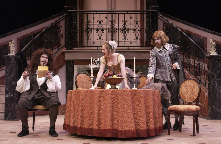 photo from the theatre production tartuffe