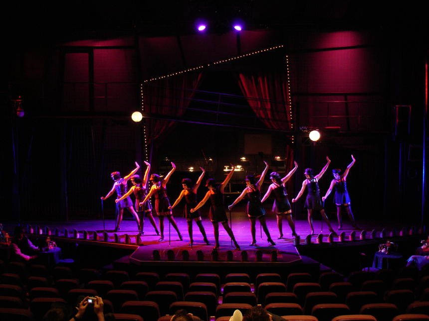 photo from the theatre production cabaret