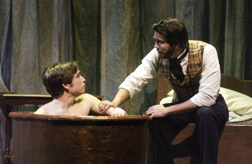 photo from the theatre production the elephant man