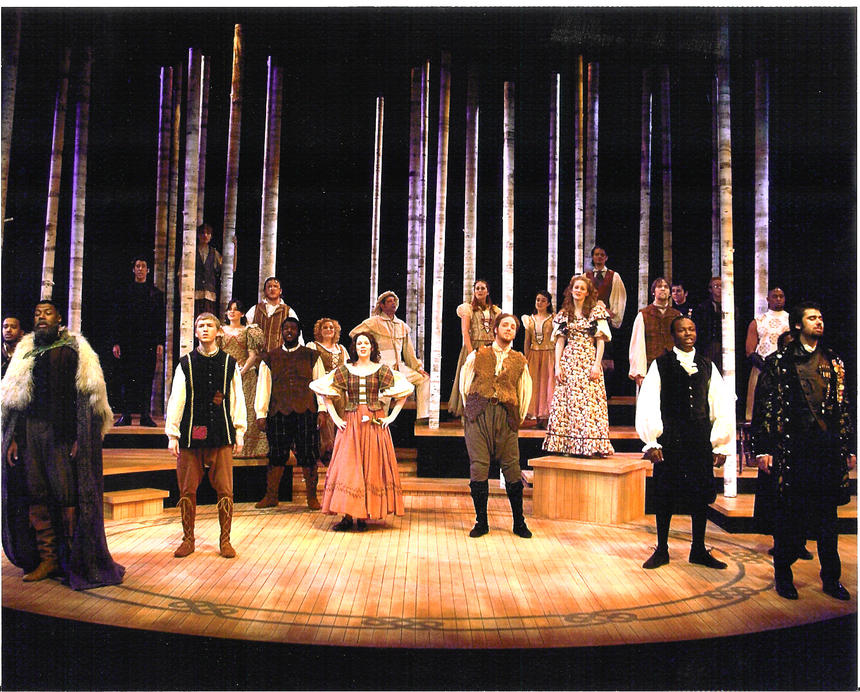 photo from the theatre production as you like it