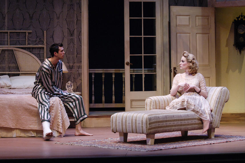 photo from the theatre production cat on a hot tin roof
