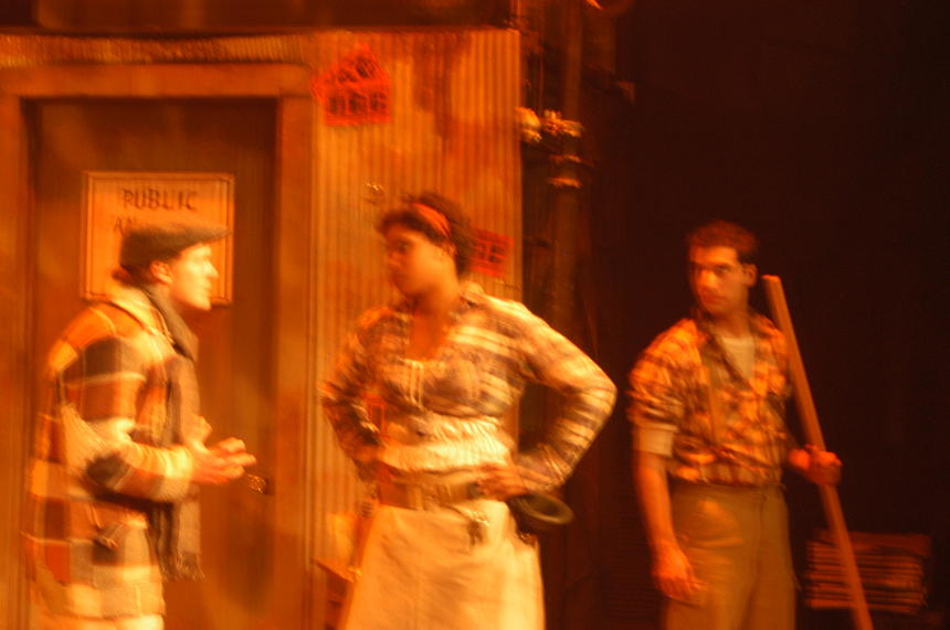 photo from the theatre production urinetown