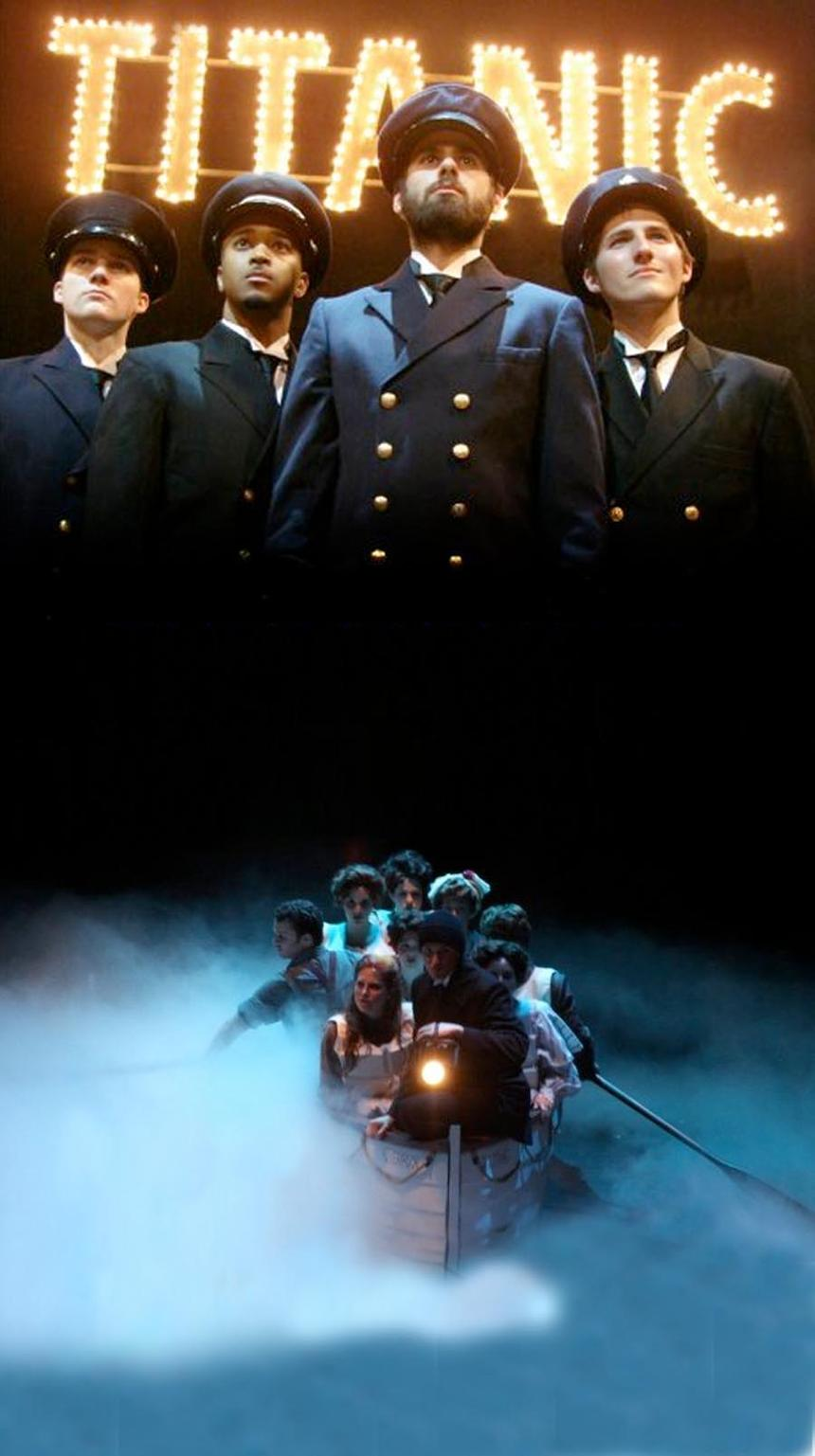 photo from the theatre production titanic: the musical