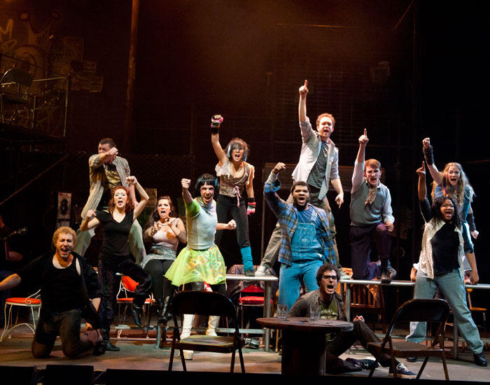 photo from the theatre production rent