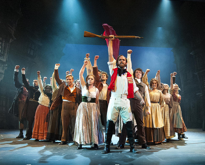 photo from the theatre production les miserables