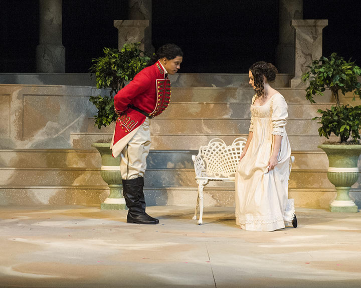 photo from the theatre production pride and prejudice
