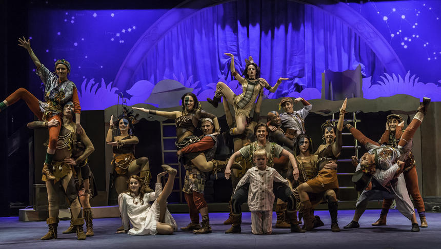 photo from the theatre production peter pan
