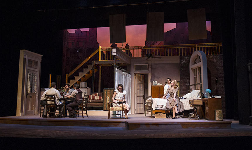 photo from the theatre production a streetcar named desire