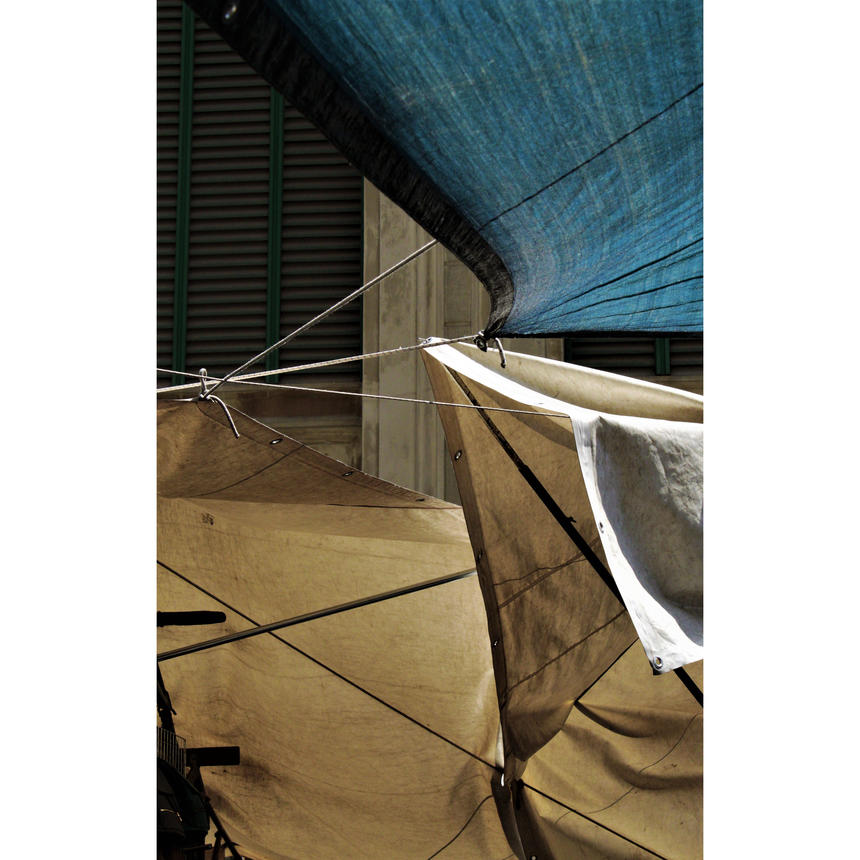 "Michael Krieger, Photography and Painting concentration, ""Florentine Tarps"" (1 of 2)"