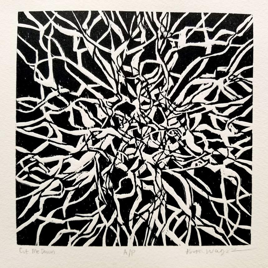 "Kristen Wagers, Printmaking Concentration, ""Cut Me Down"""