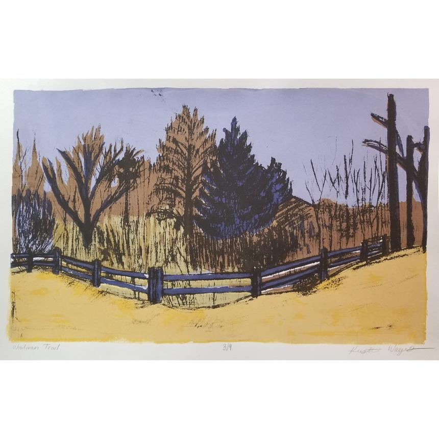 "Kristen Wagers, Printmaking Concentration, ""Woodman Trail"""