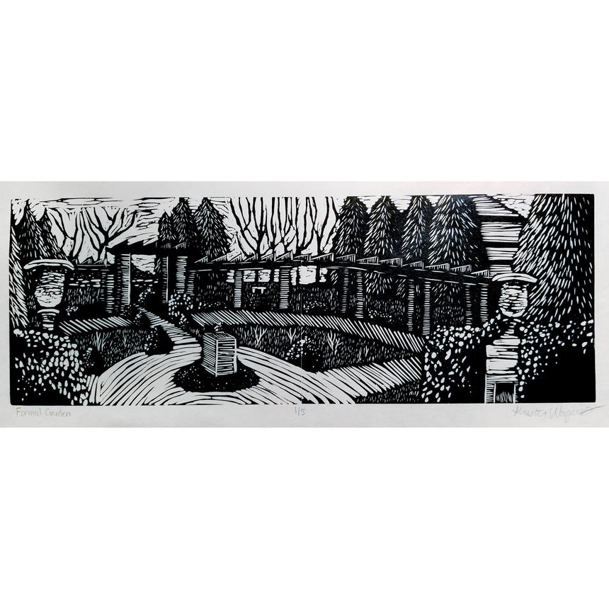 "Kristen Wagers, Printmaking Concentration, ""Formal Garden"""