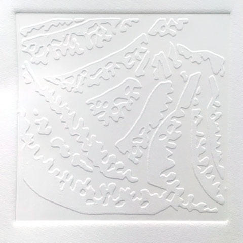 """Jackie Smith, Printmaking concentration, Process """"Biting"""" Ink, paper"""