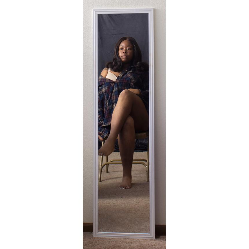 """Tylecia Parks, Photography Concentration, """"Woman in the Mirror"""" Digital pigment print"""
